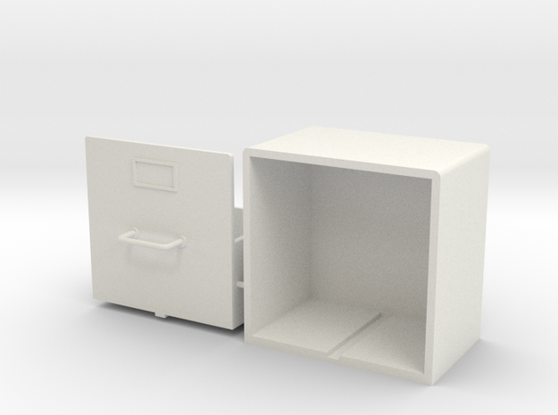 1:12 Airfix Austin A35 Record Cabinet (Top Bun) in White Natural Versatile Plastic
