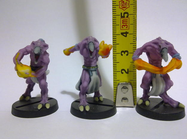 Demon troops. 3d printed Size