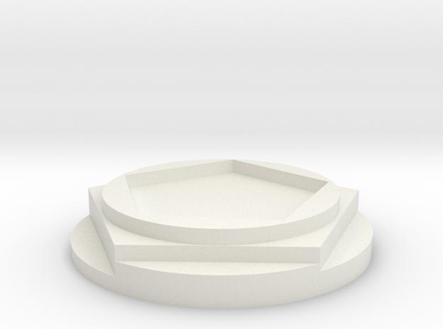The ROSE in White Natural Versatile Plastic
