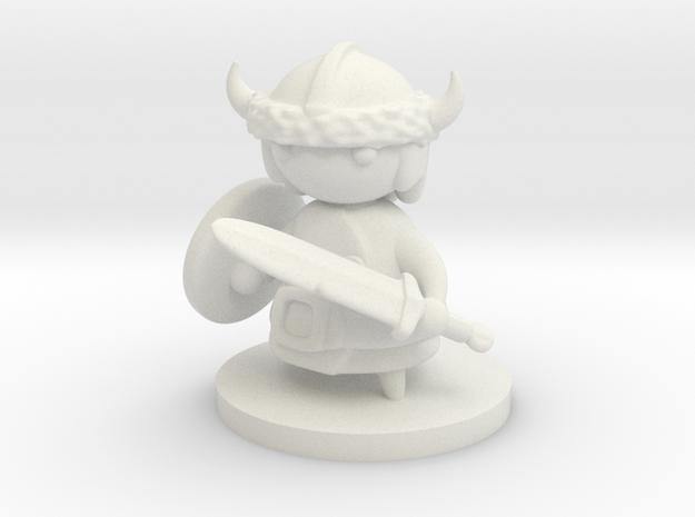 Viking in White Natural Versatile Plastic
