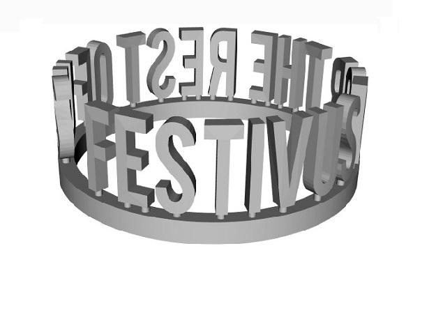 DRAW Festivus - For the Rest of Us ring in White Natural Versatile Plastic