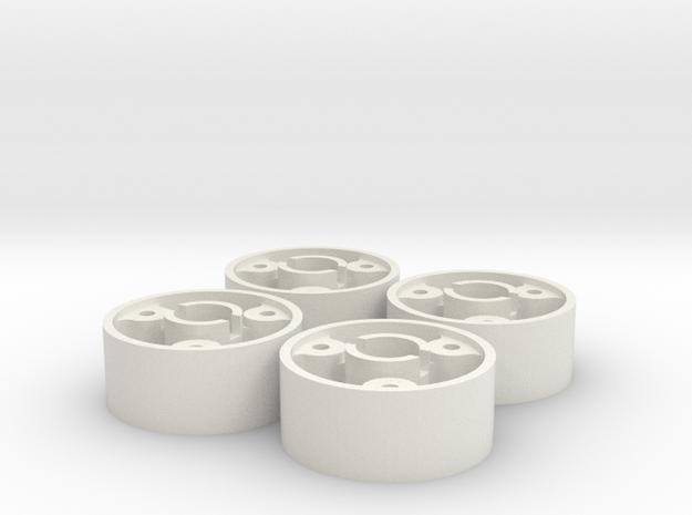 4 jantes MR03 avant D20 pour flans 3D +0,5 in White Natural Versatile Plastic