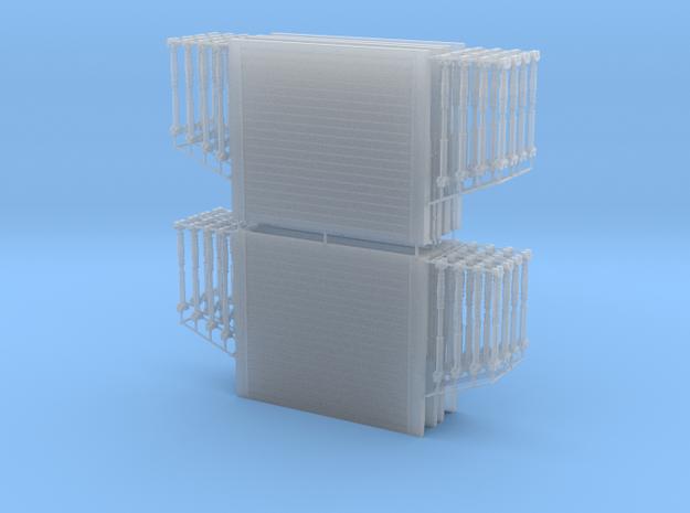 1/87 H0 4x Verbaukästen/Verbauboxen 3,0x2,6m (lxh)