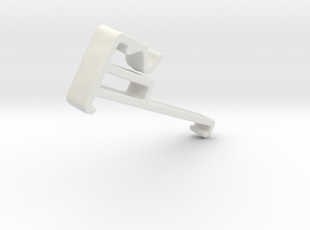 Blind Valance Clip 97 in White Natural Versatile Plastic