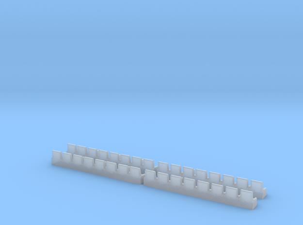 8500 Lounge Seats in Smooth Fine Detail Plastic