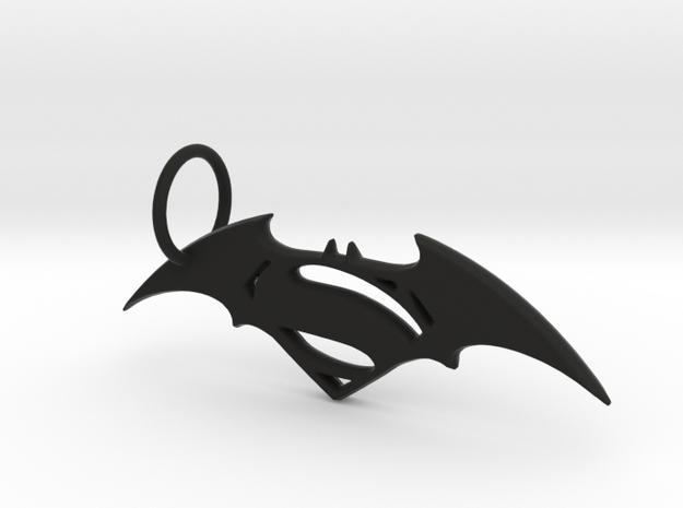 Batman vs Superman keychain in Black Natural Versatile Plastic