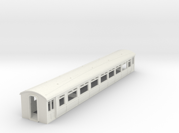 o-76-lnwr-siemens-trailer-coach-1 in White Strong & Flexible