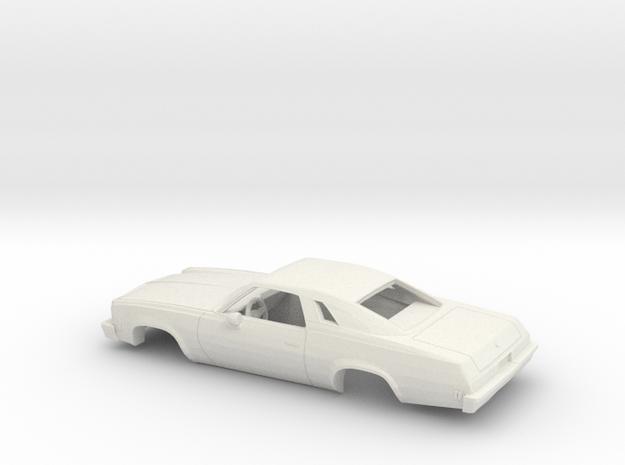 1/24 1976/77 Chevrolet Chevelle Malibu Classic C. in White Natural Versatile Plastic