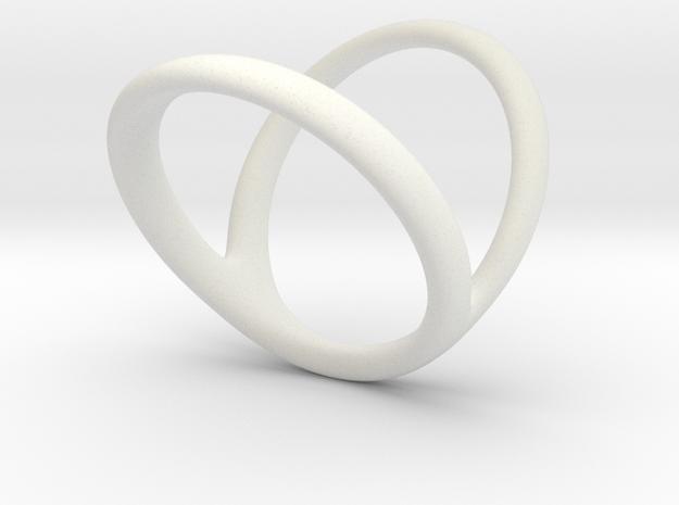 ring for Jessica pinkie-finger in White Natural Versatile Plastic