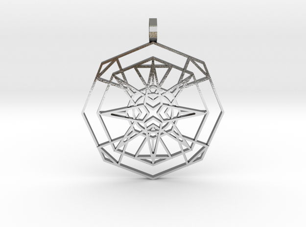 Metatron's Fire-Star (Polished Metals) in Polished Silver