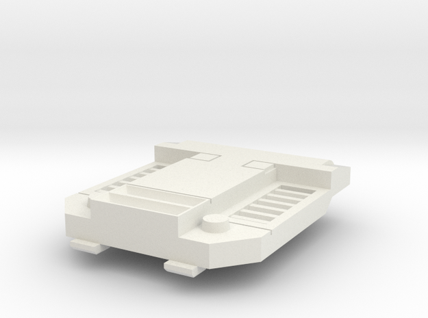 chest plate V1 in White Natural Versatile Plastic