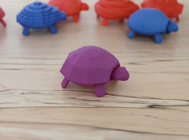 Squishy Turtle - Faceted in Purple Strong & Flexible Polished