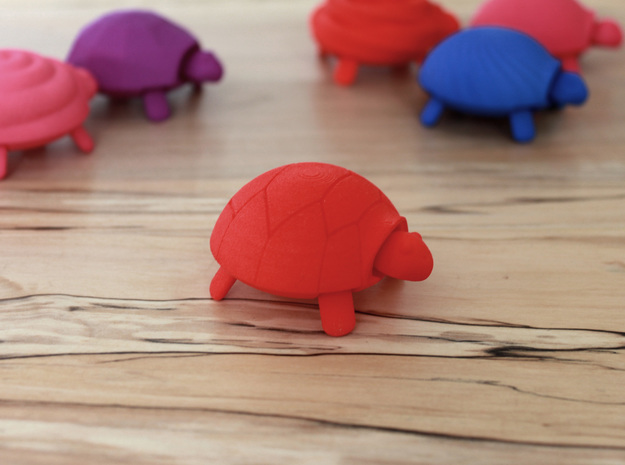 Squishy Turtle - Classic in Red Strong & Flexible Polished