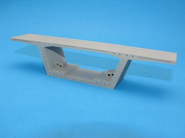 HO/1:87 Precast concrete bridge segment kit (wide  in White Natural Versatile Plastic