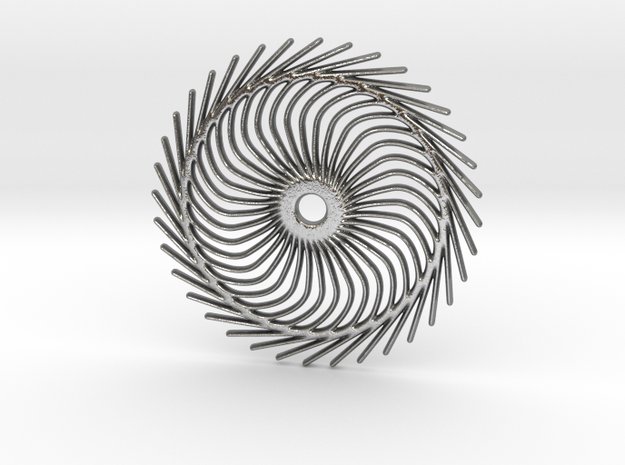 Spiral shape in Natural Silver