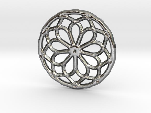 Mandala shape with dots