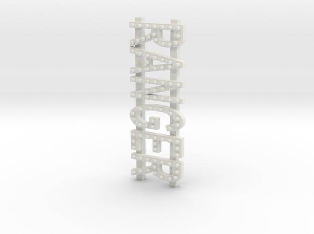 ranger sign in White Natural Versatile Plastic