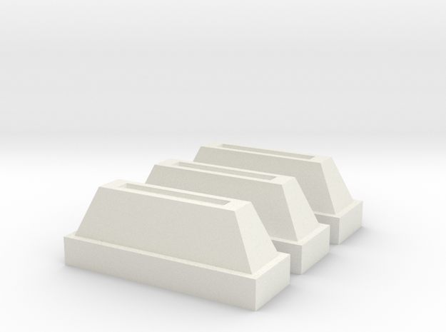 1-6 Scale Vader Chest Box Coin Slot in White Natural Versatile Plastic