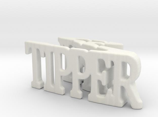 3dWordFlip: tipper/? in White Natural Versatile Plastic