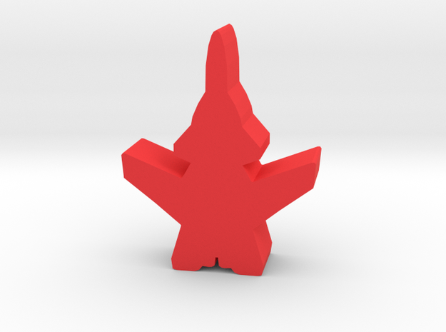 Game Piece, Red Force Berkut Fighter in Red Processed Versatile Plastic
