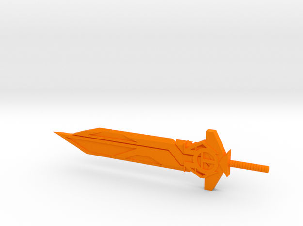 The Star Buster Blade in Orange Processed Versatile Plastic