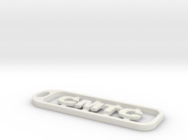 CMTC Key Chain in White Natural Versatile Plastic