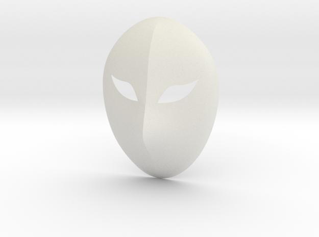 Vega Mask in White Natural Versatile Plastic