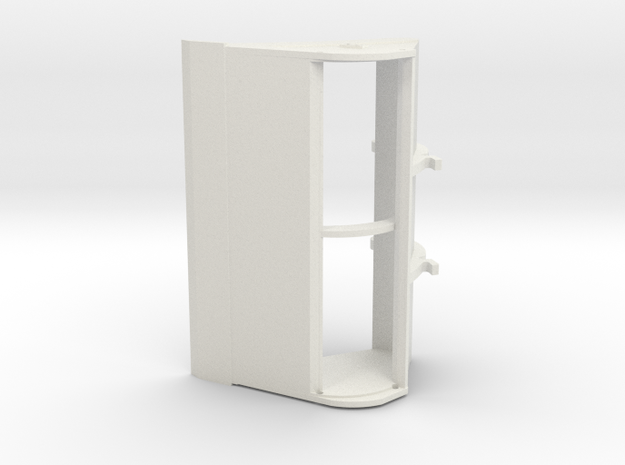 kettingbak 2000mm 3D in White Natural Versatile Plastic