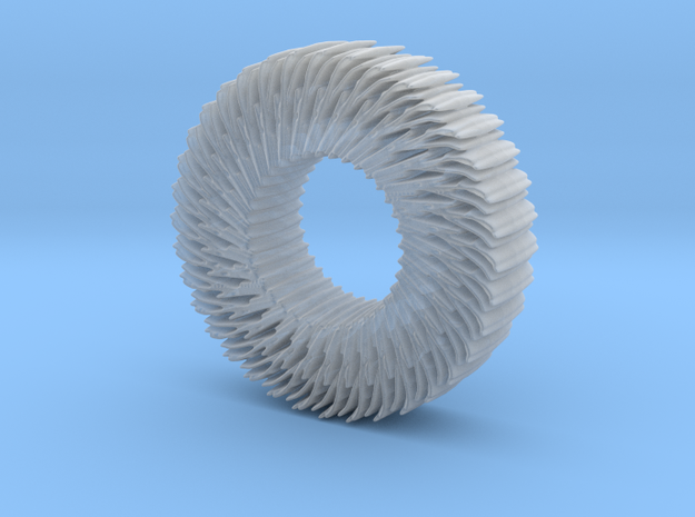 Hairy wheel in Smoothest Fine Detail Plastic