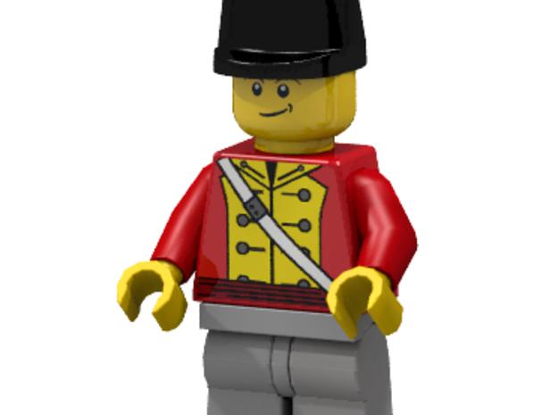 British Wellington Shako  3d printed British Officer (Render of an example Usage)