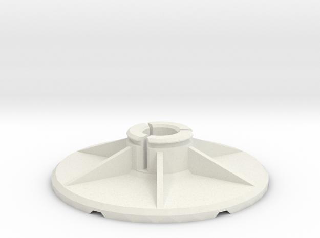 """1/4"""" Adapter für Drehdimmer Rad in White Natural Versatile Plastic"""