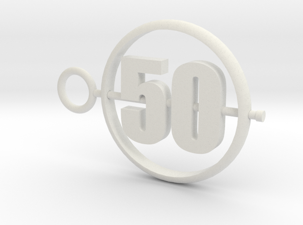 50_50mm in White Premium Versatile Plastic