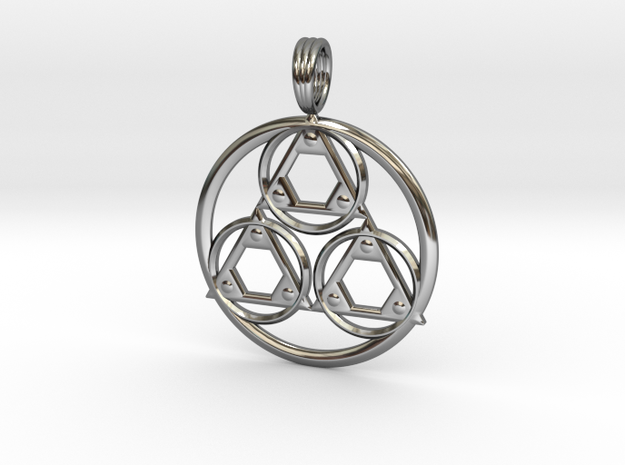 CYMATIC HARMONY in Fine Detail Polished Silver
