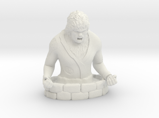 Wolfman in White Natural Versatile Plastic
