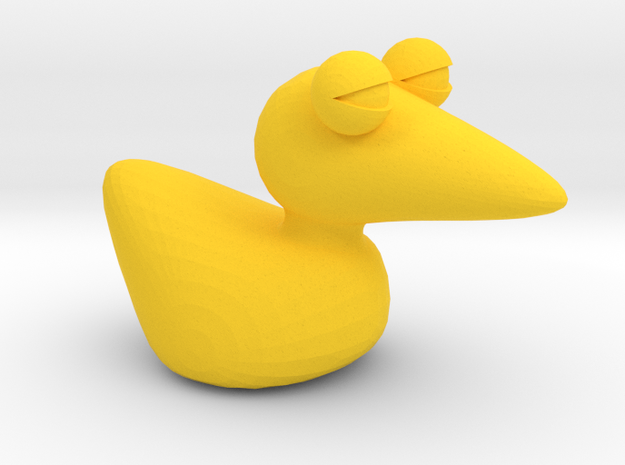 Duck in Yellow Processed Versatile Plastic
