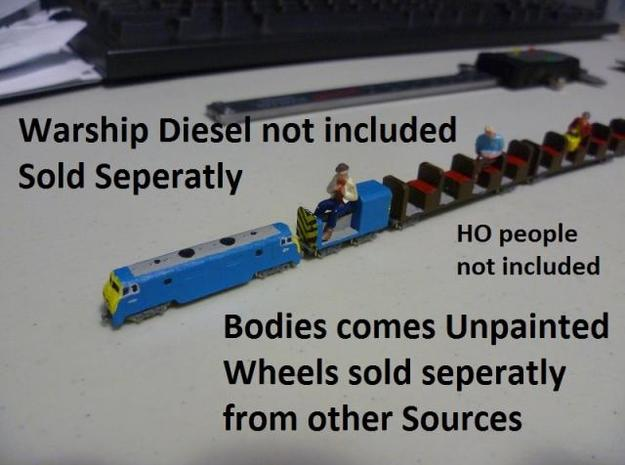 T-gauge Miniature Carriages for HO people 3d printed