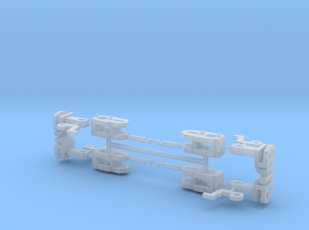 4x Coupplers H0 Scale in Smooth Fine Detail Plastic