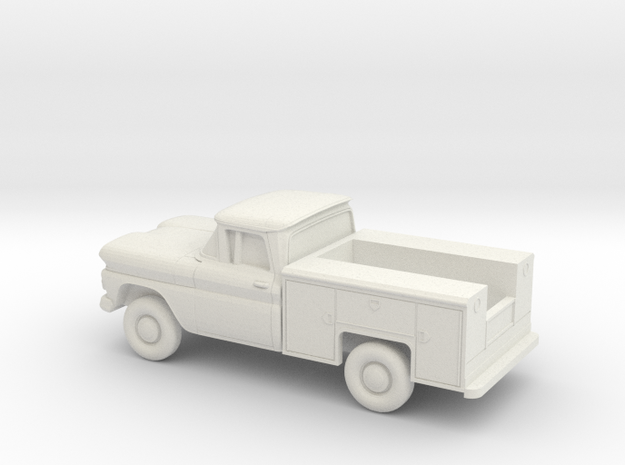 1/87 1960/61 Chevrolet C-Series Utility Hollow She in White Natural Versatile Plastic