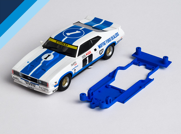 1/32 Scalextric Ford Falcon XB/XC Chassis AW pod in White Natural Versatile Plastic
