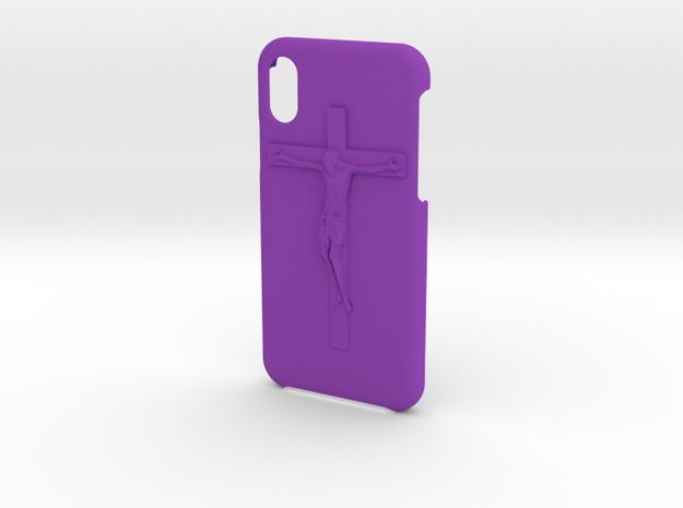 IPhone X Jesus Case in Purple Processed Versatile Plastic