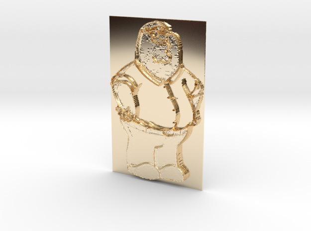 Peter Griffin Pendant in 14K Gold