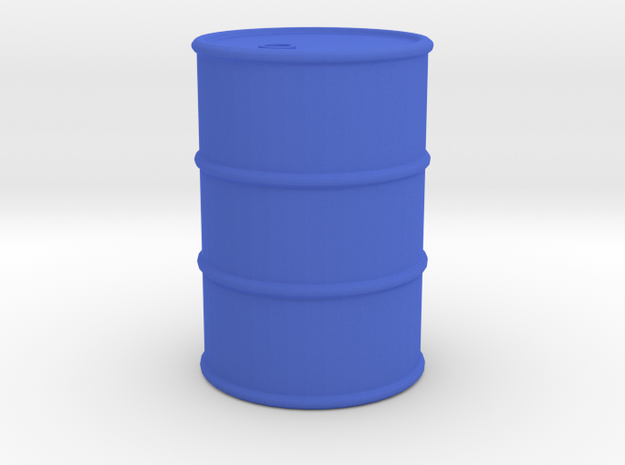 Oil Drum Token in Blue Processed Versatile Plastic