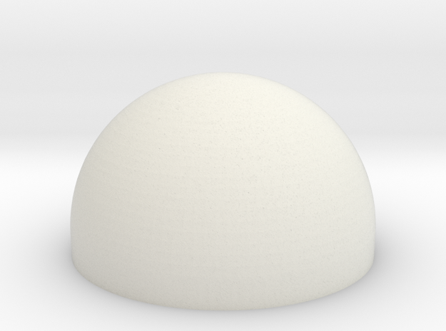 AT-AT Commander Round Dome Hollow in White Natural Versatile Plastic