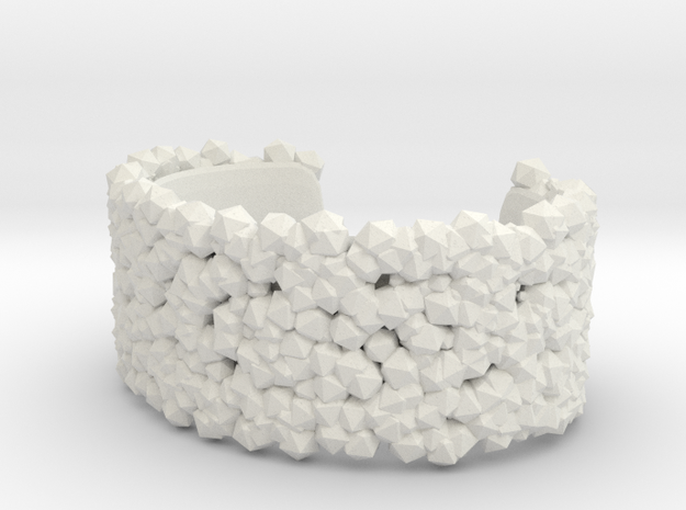 Bracelet Structure in White Natural Versatile Plastic