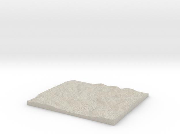 Model of Kernville in Natural Sandstone