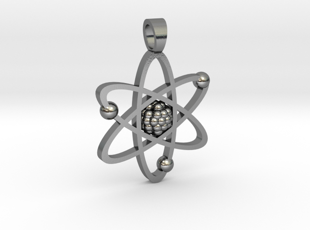 Atom [pendant] in Polished Silver