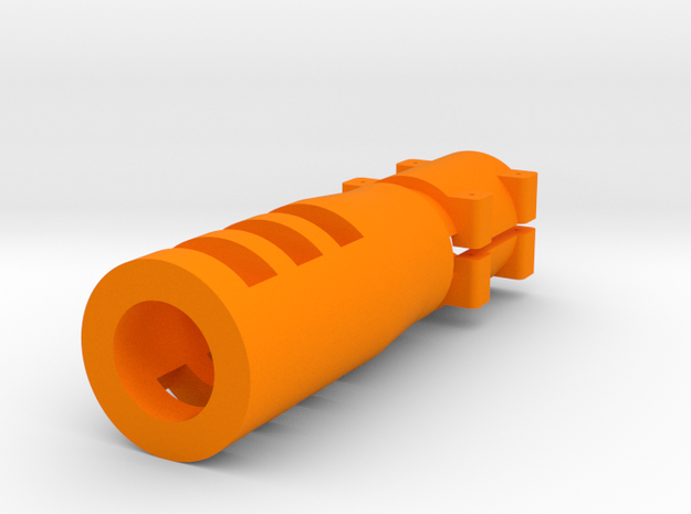 "Sniper Flash Hider for 1"" Barrel in Orange Strong & Flexible Polished"
