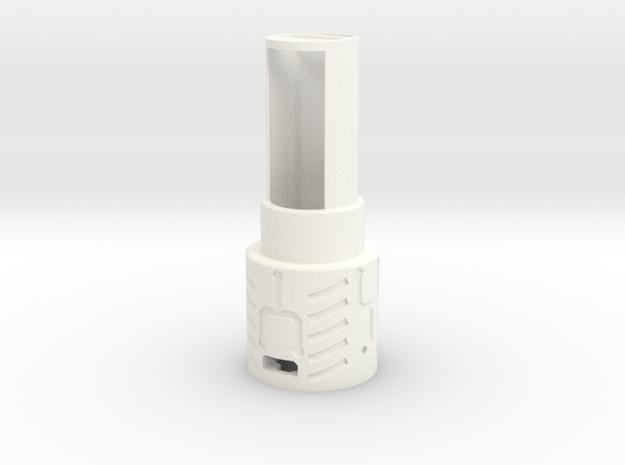 MPP2.0 - Part 1/10 - BatteryHolder in White Processed Versatile Plastic