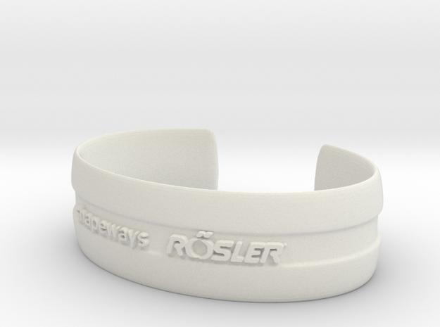 Bracelet Basic medium in White Natural Versatile Plastic