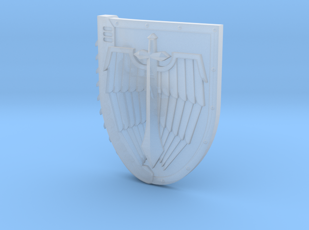Left-handed Chainshield (Winged Sword design) in Smooth Fine Detail Plastic: Small